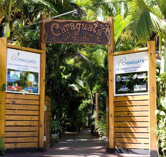 Entrada Caraguatá - Pousada na Ilha do Mel
